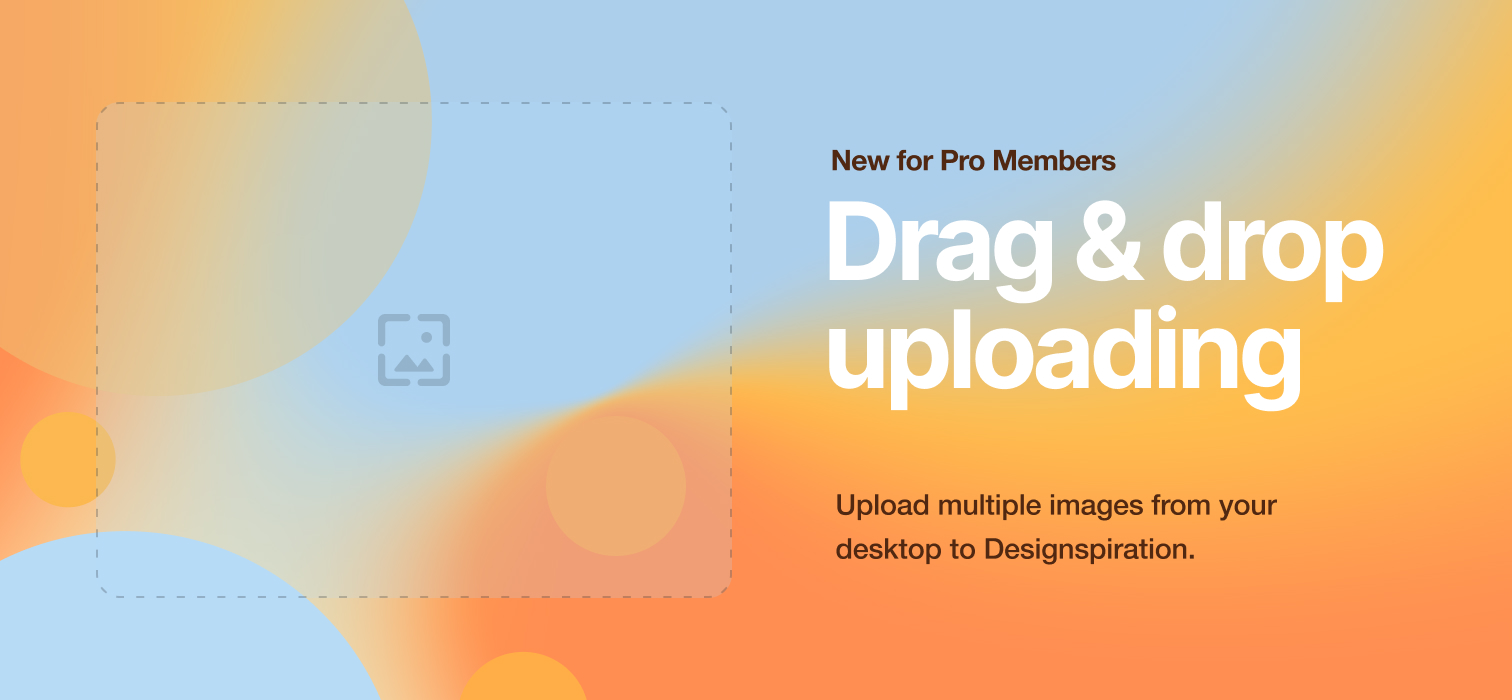 Drag drop on Designspiration