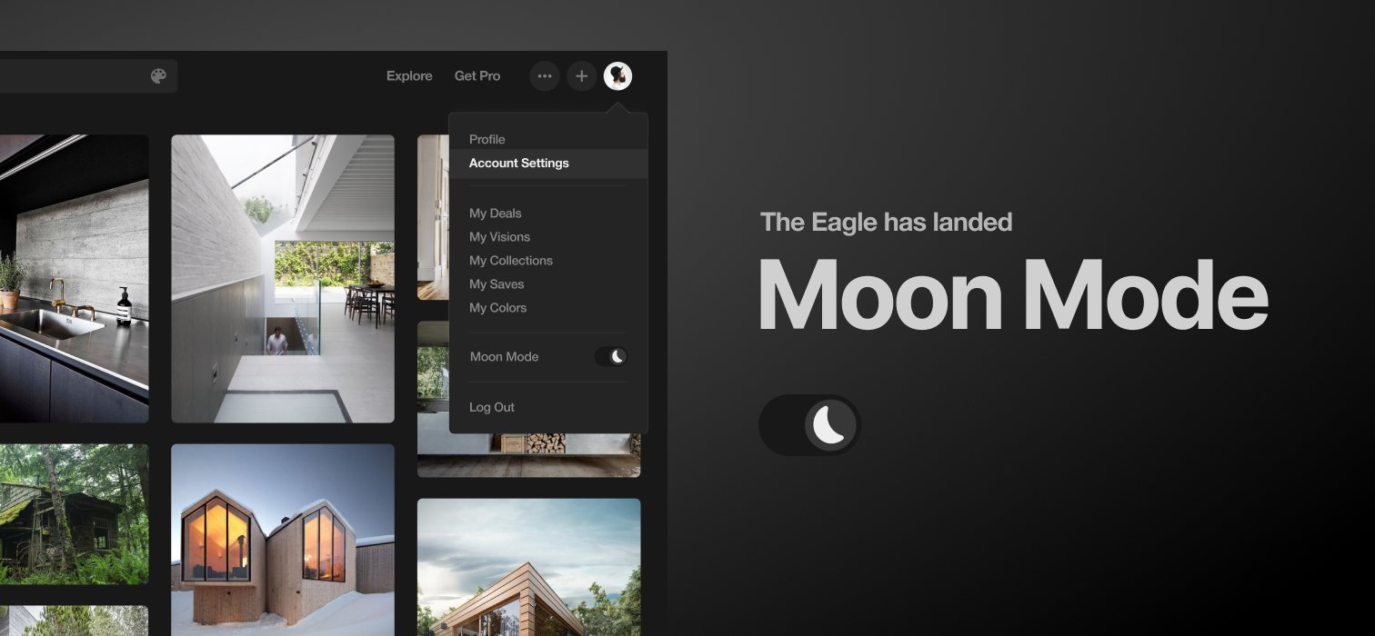 Activate Moon Mode on Designspiration