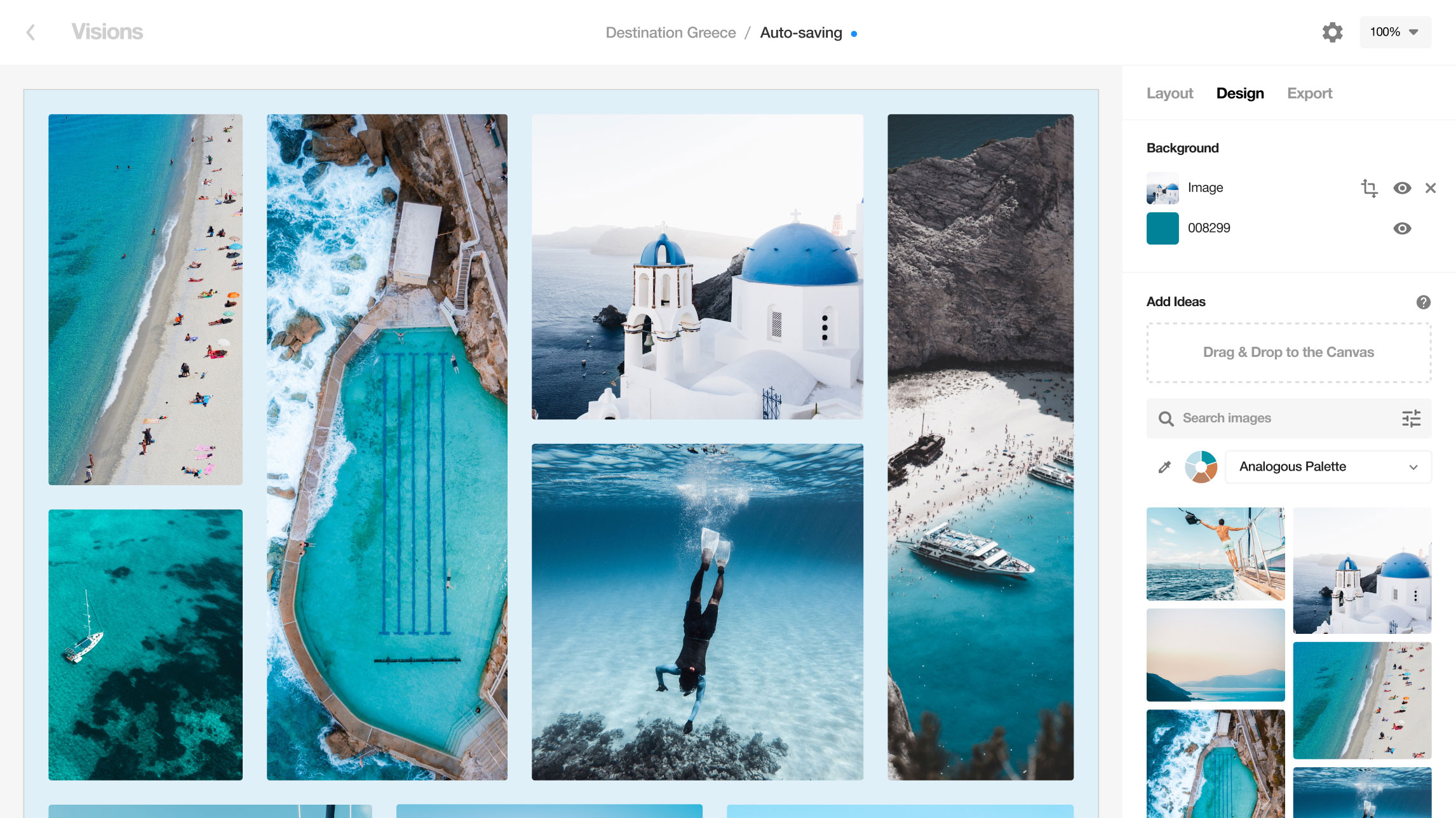 Designspiration Visions mood boarding